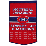 Montreal Canadiens Stanley Cup Championship Dynasty Banner – with hanging rod