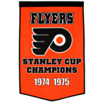 Philadelphia Flyers Stanley Cup Championship Dynasty Banner – with hanging rod