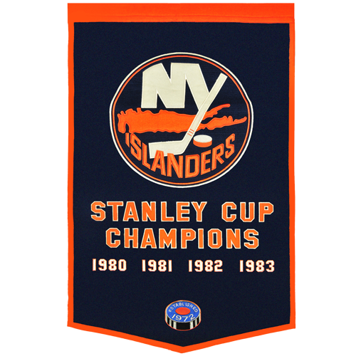 New York Islanders Stanley Cup Championship Dynasty Banner – with hanging rod