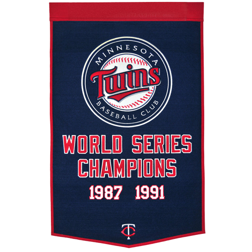 Minnesota Twins World Series Championship Dynasty Banner – with hanging rod