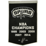 San Antonio Spurs NBA Finals Championship Dynasty Banner – with hanging rod