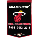 Miami Heat NBA Finals Championship Dynasty Banner – with hanging rod