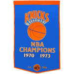 New York Knicks Dynasty NBA Finals Championship Dynasty Banner – with hanging rod
