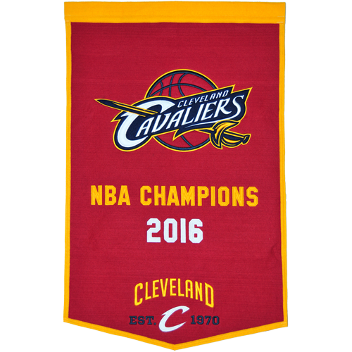 Cleveland Cavaliers NBA Finals Championship Dynasty Banner – with hanging rod