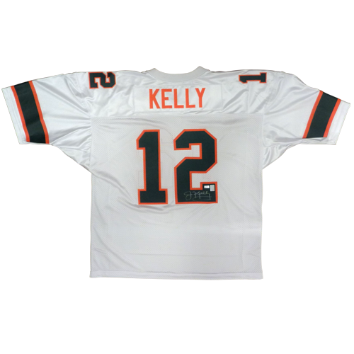 separation shoes fce51 4808b Jim Kelly Autographed Miami Hurricanes (White #12) Jersey - Kelly Holo