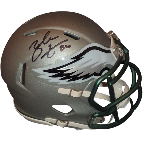 8373c478e0f Zach Ertz Autographed Philadelphia Eagles (Blaze Alternate) Mini Helmet