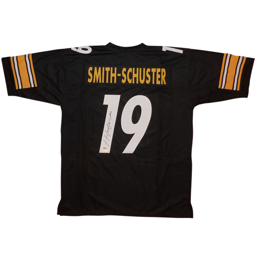 reputable site d35b0 afaae Juju Smith-Schuster Autographed Pittsburgh Steelers (Black #19) Custom  Jersey - JSA