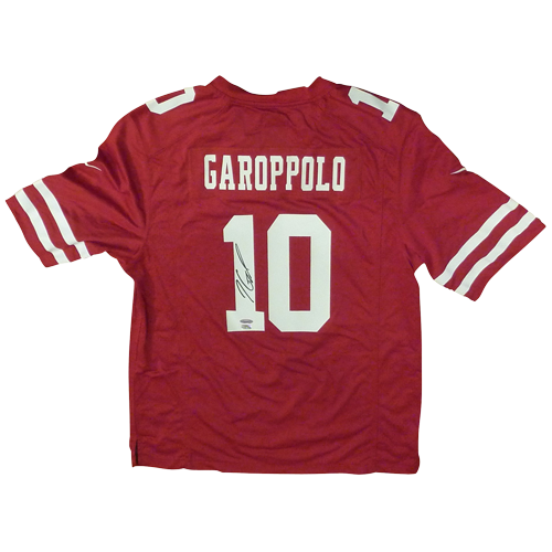 1f16da929d9 Jimmy Garoppolo Autographed San Francisco 49ers (Red  10) Nike Game Jersey  – TriStar