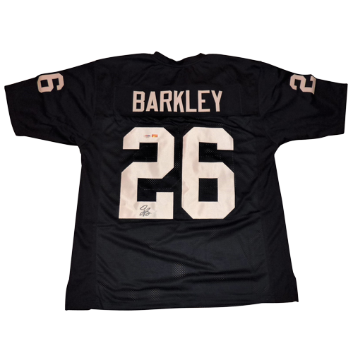 on sale 74073 132a5 Saquon Barkley Autographed Penn State Nittany Lions (Blue #26) Custom  Jersey - PSA