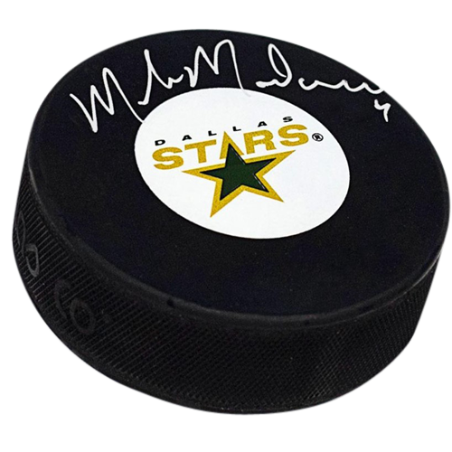 Mike Modano Autographed Dallas Stars Hockey Puck - Palm Beach Autographs 5810c2af1a7