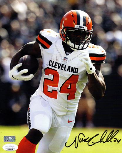 NN-1 NICK CHUBB CLEVELAND BROWNS 8X10 SPORTS ACTION PHOTO